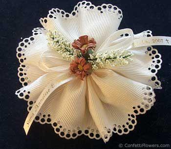 The Modena Ribbon Flower With Italian Jordan Almonds Wedding Favorsgreek