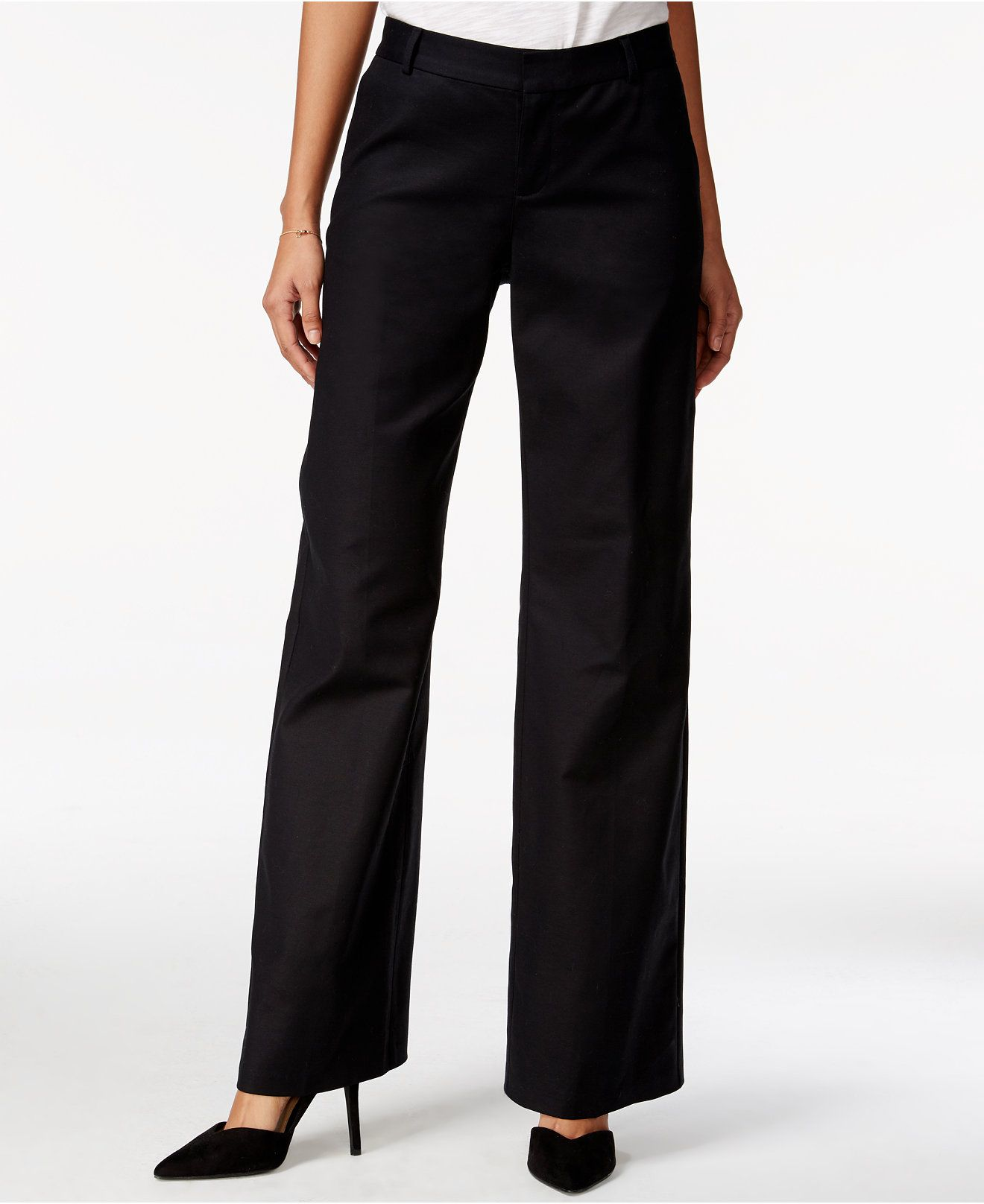 Maison Jules Solid WideLeg Pants, Only at Macy's Maison
