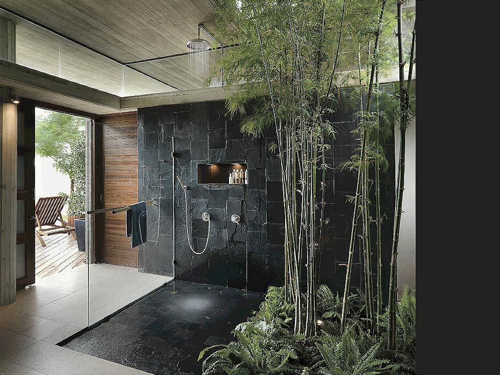 Bamboo Outdoor Shower Enclosures Obviously This Isn 39t A Layout We Can Achieve But As A
