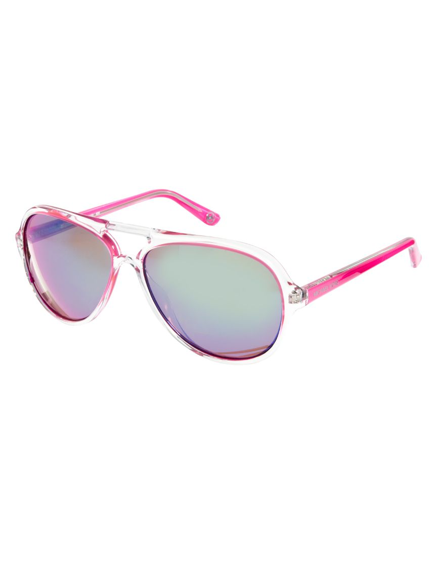 Love these for the lake! Michael Kors Aviator Sunglasses  pink ... b857238f70
