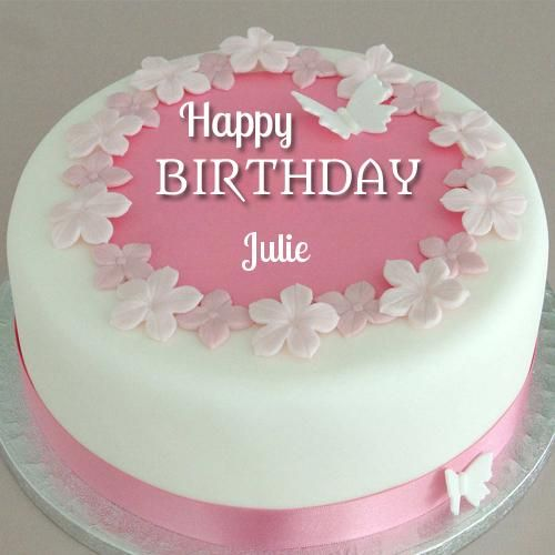 Awesome Fondant Flower Birthday Cake With Your Name Kathy Hinton