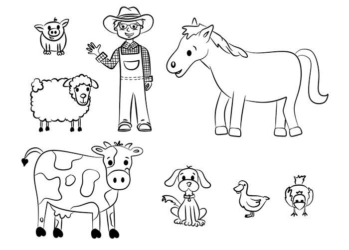 70 Animal Colouring Pages Free Download Print Cow Coloring Pages Farm Animal Coloring Pages Farm Coloring Pages