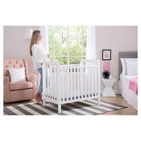 The Classic Mini Crib with Mattress Convertible to Twin ...