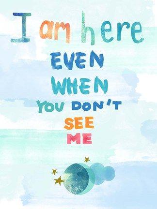 Framed I Am Here Print