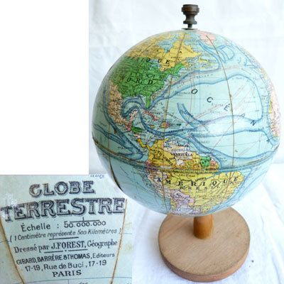 mappemonde globe terrestre j forest debut xx mappemonde earth pinterest mappemonde. Black Bedroom Furniture Sets. Home Design Ideas