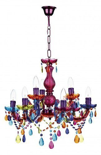 Large Multi Coloured Gl Chandelier