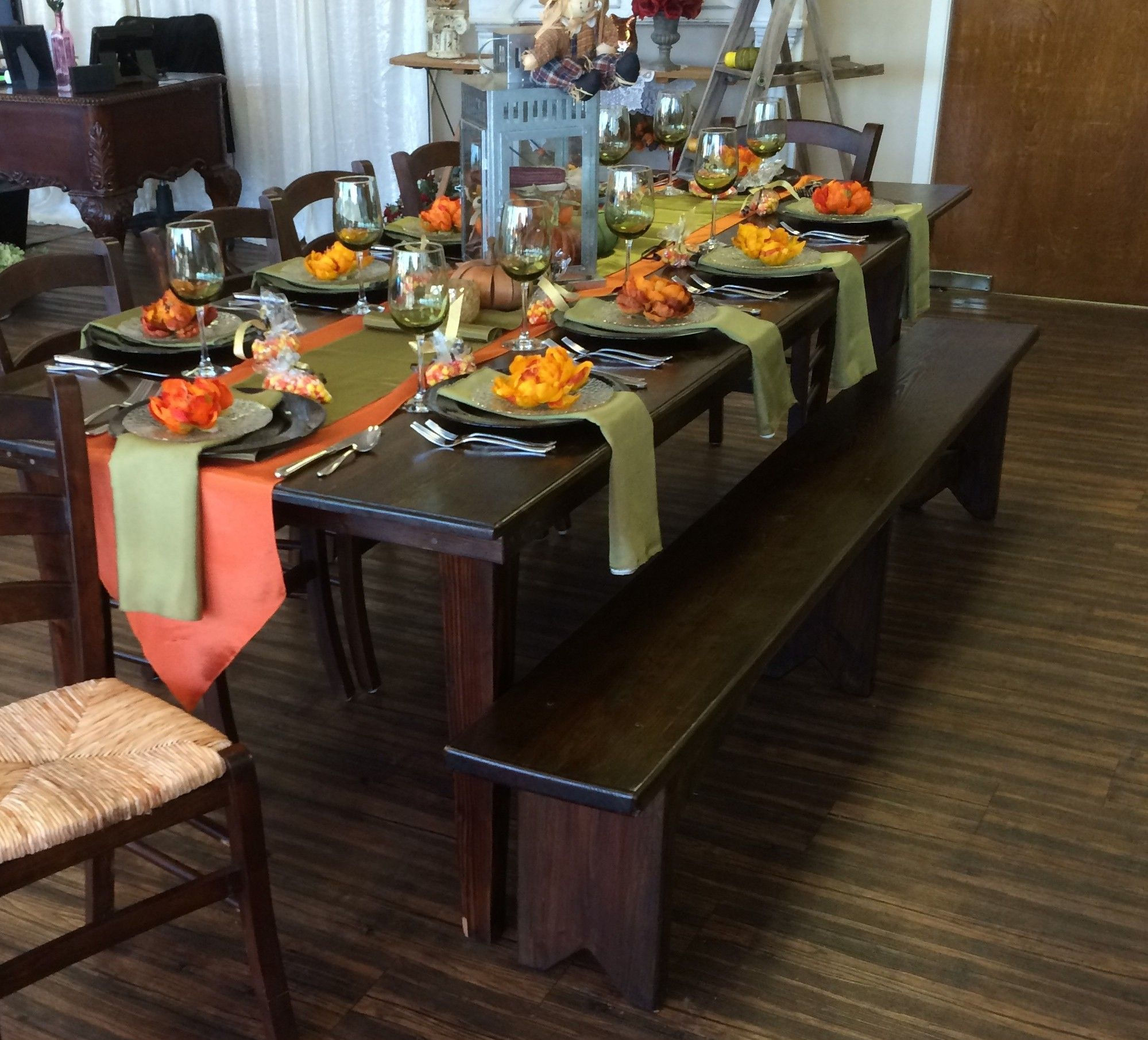 Fruitwood Farm Table Houston, TX Event Rentals Table