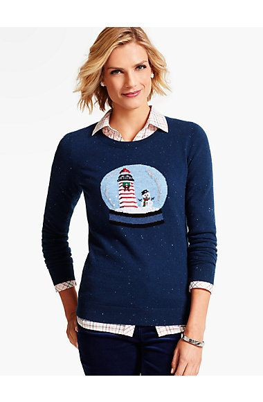 Snow Globe Sweater - Talbots   My Style   Pinterest   Talbots ...
