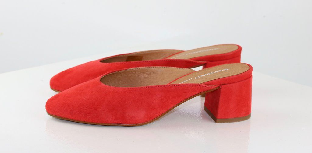 23b8e5088d6 DAISY Blush Red Suede | Clothes and Accessories | Shoes, Heeled ...
