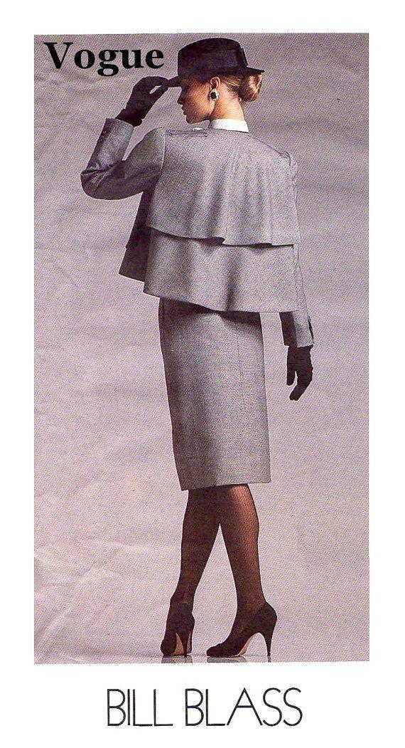 80s BILL BLASS SUIT Sewing Pattern  1987 Vogue by KeepsakesStudio, $12.00