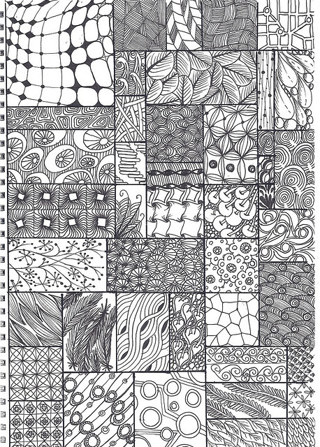 Black White Zentangle Patterns Tangle Art Zentangle Drawings
