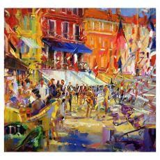 #Port #Promenade, #Saint-#Tropez (oil on canvas)#Poster # ...