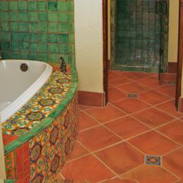 mexican tile bathroom saltillo tile