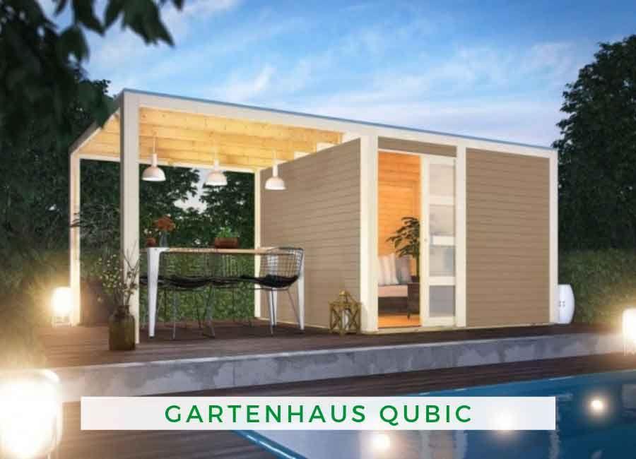 Karibu Gartenhaus Qubic (optional mit Anbaudach) Karibu