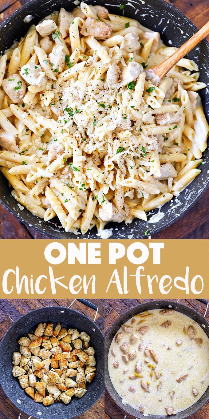 One Pot Chicken Alfredo Recipe  The original onepot alfredo recipe