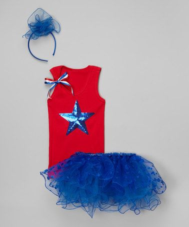This Red & Blue Star Tank Set - Infant, Toddler & Girls is perfect! #zulilyfinds