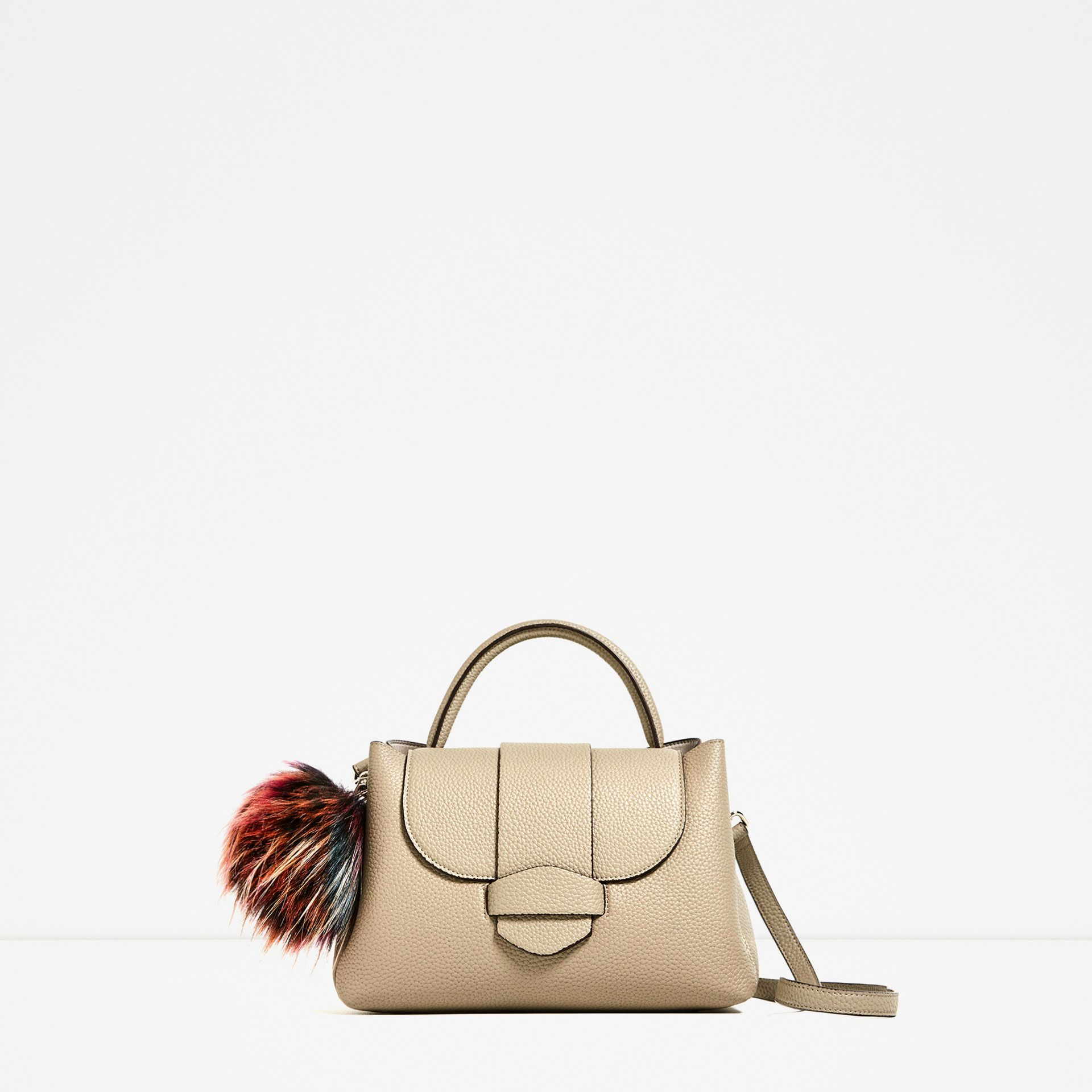 165af0267b Image 2 of MINI POMPOM CITY BAG from Zara
