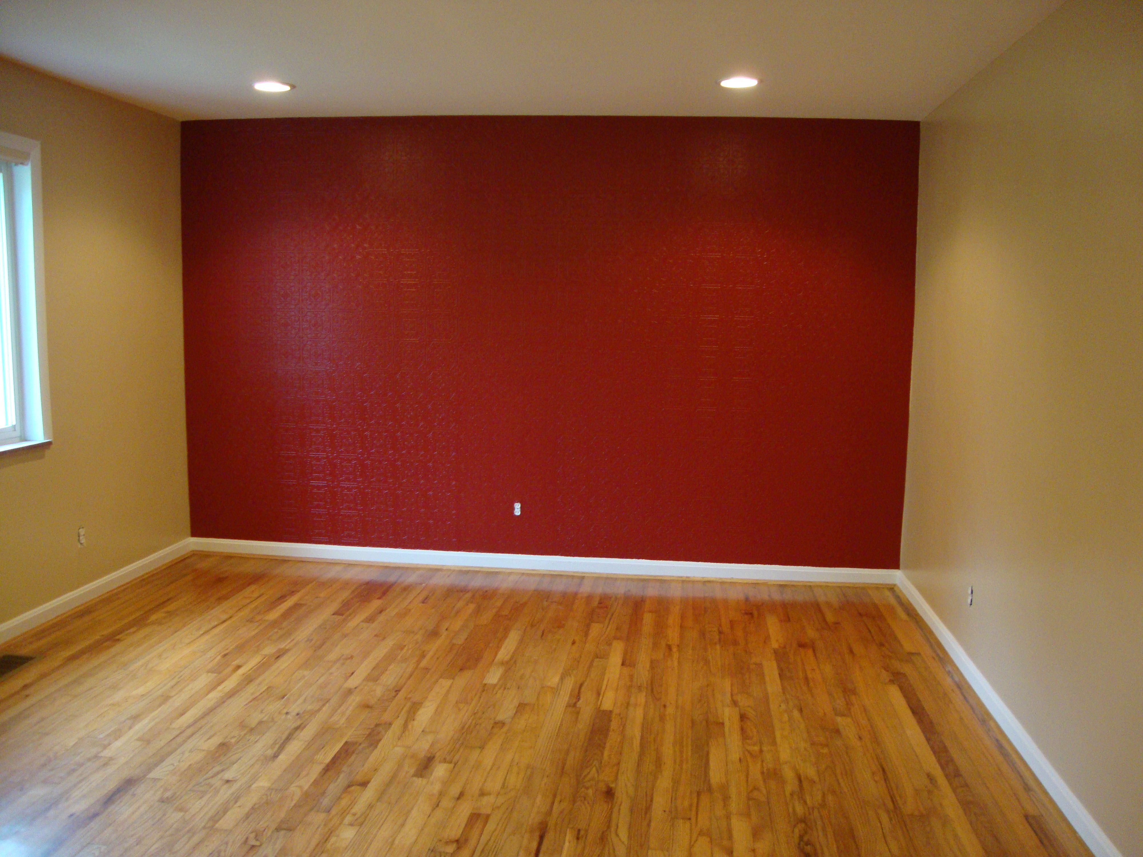 Red Accents Red Accent Wall Textured Paint Able Wall Paper Paint