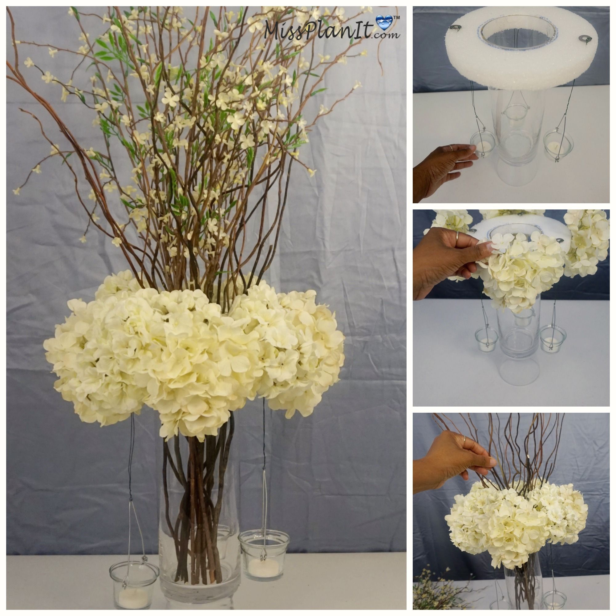 How to diy budget friendly blooming branches wedding centerpiece how to diy budget friendly blooming branches wedding centerpiece junglespirit Choice Image