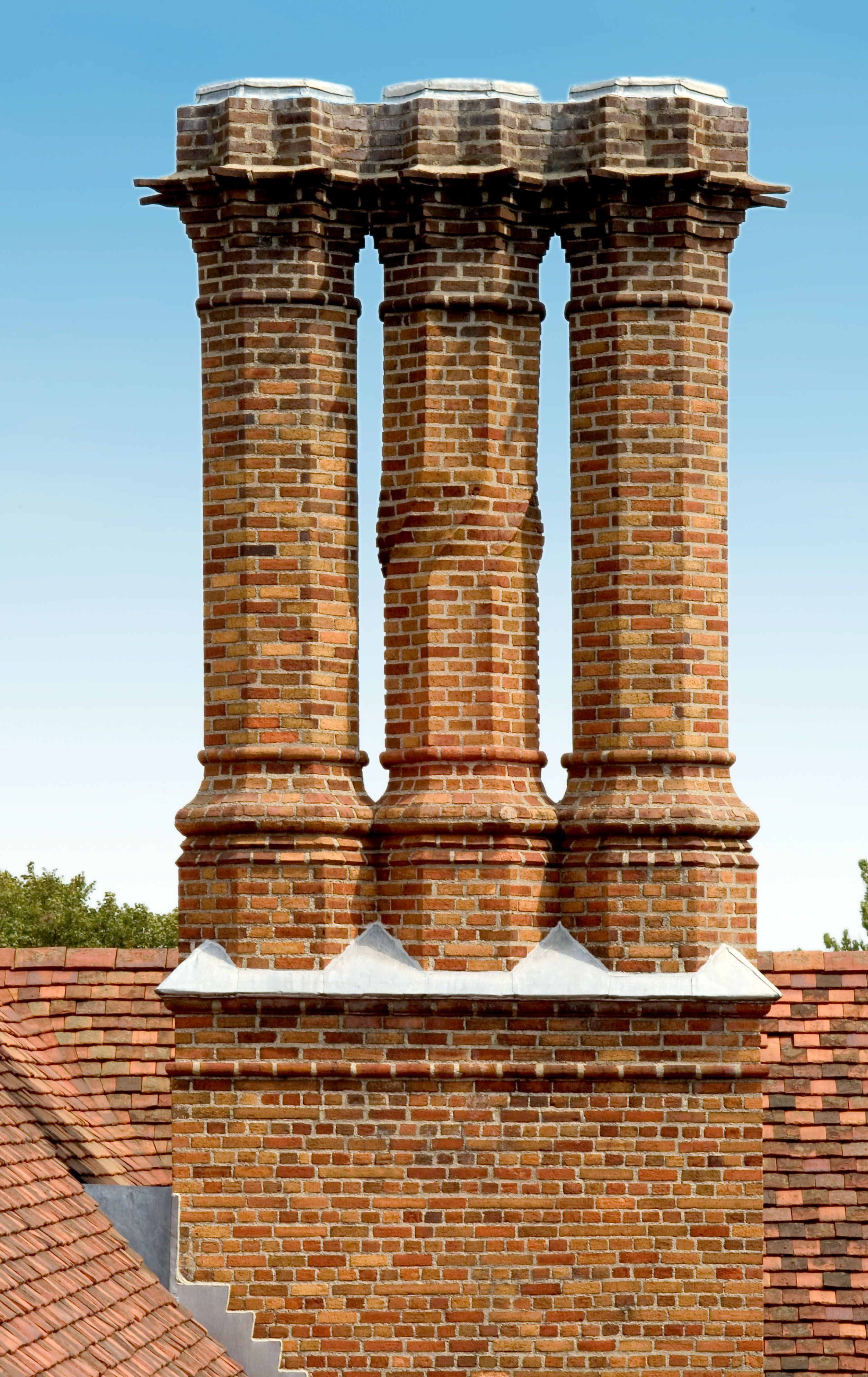 All 39 of Meadow Brook Hall's chimneys are unique.