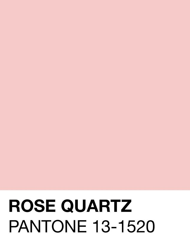 Fabuleux Rose Quartz, one of the 2 Pantones of The Year for 2016 (the other  BP59