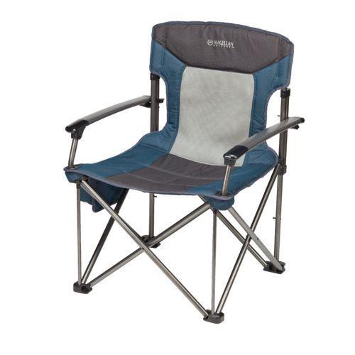 Magellan Outdoors Oversize Hard Arm Chair Blue Patio Furniture