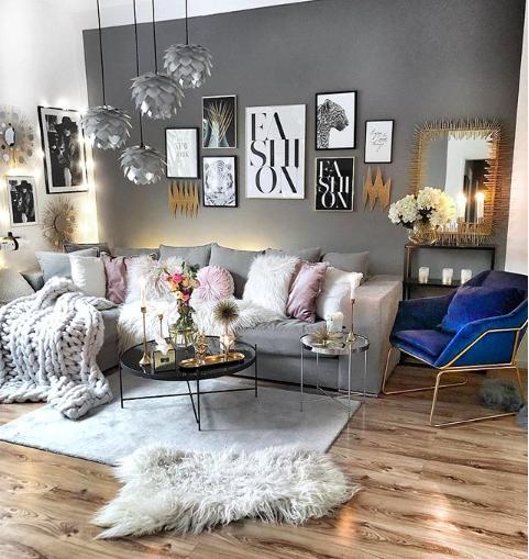 Ecksofa Newman Samt Silber Grau In 2020 Wohnen Zimmereinrichtung Und Wohnzimmer Grau