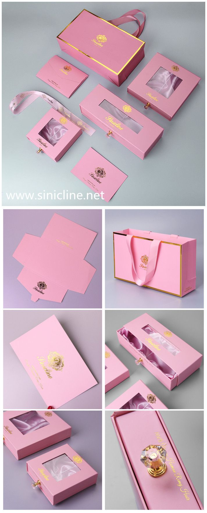 Luxury Hair Hair Extension Packaging Boxes And Bags By