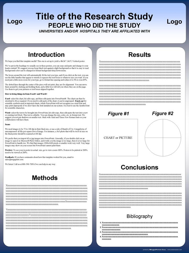 Free Powerpoint Scientific Research Poster Templates for Printing - resume ppt