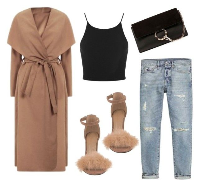 """""""nyc baby"""" by srazak ❤ liked on Polyvore featuring Chloé, Miss Selfridge, Fall, daywear, nude, coat and fashionset"""
