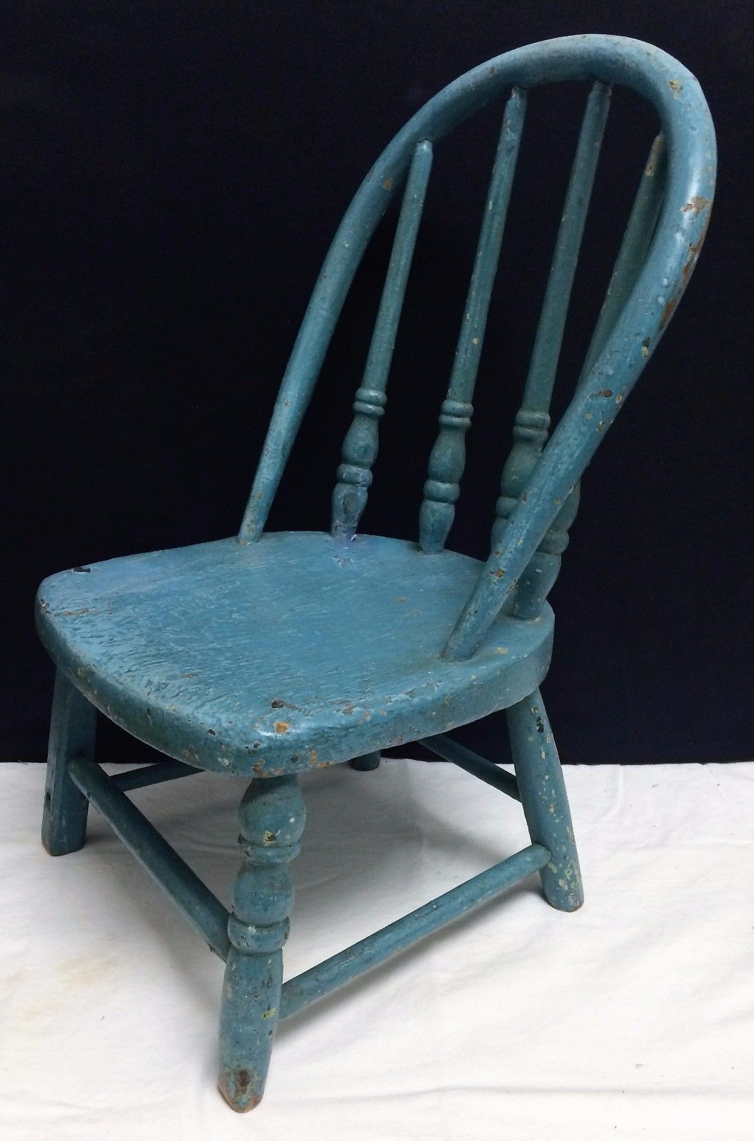 Antique Aafa Childs Primitive 17 Windsor Hoop Back Wood Chair