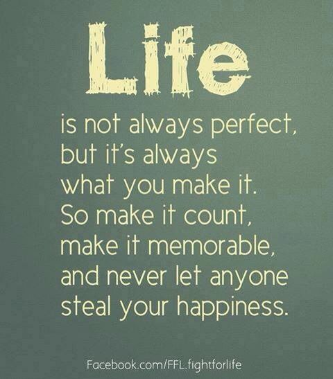 Make the best of it each day:)