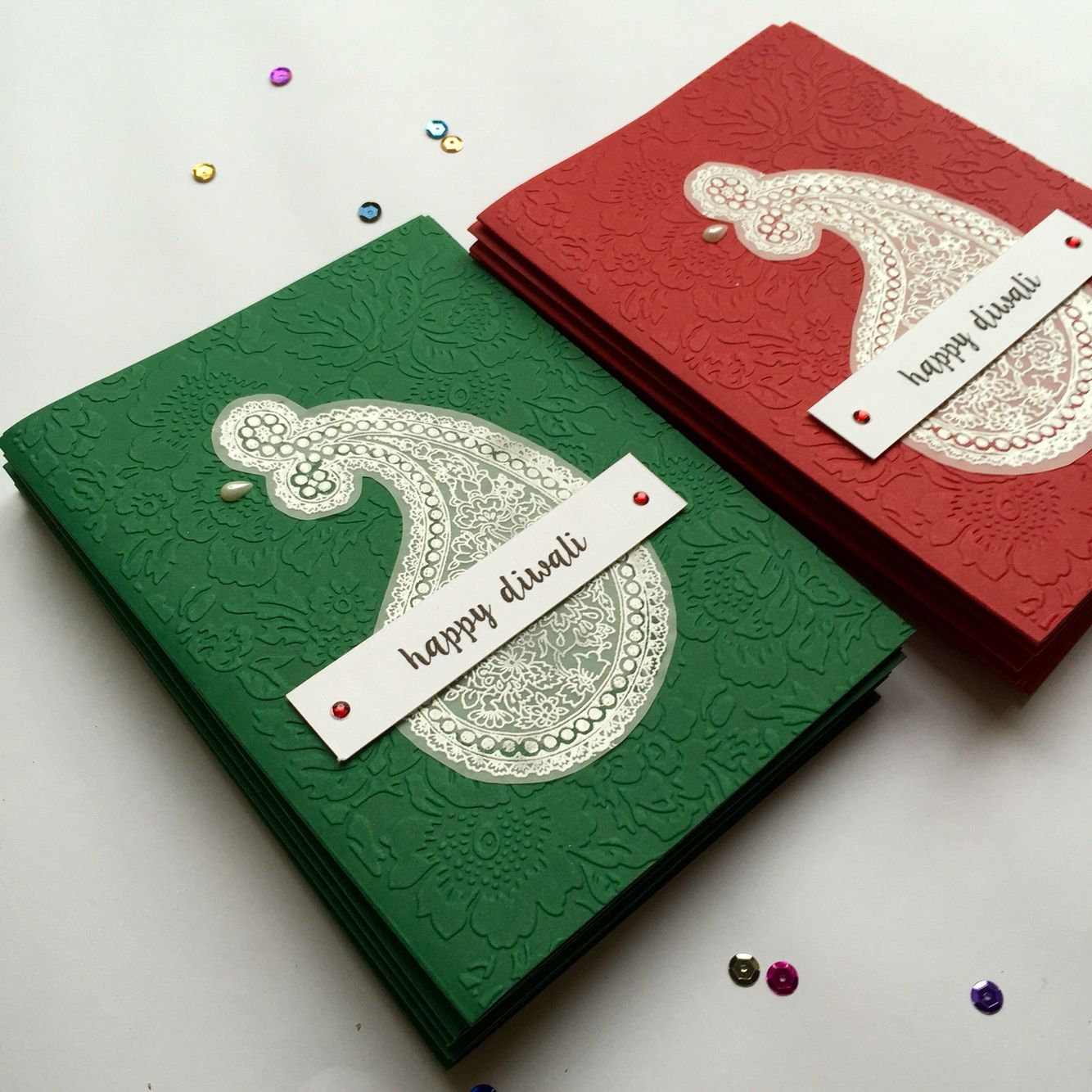 modern twist on our diwali greetings cards  with white