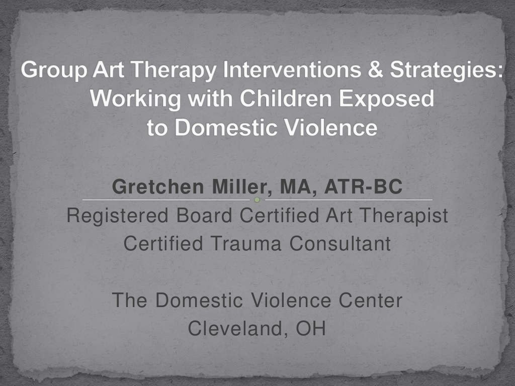 Group Art Therapy Interventions Strategies Working With