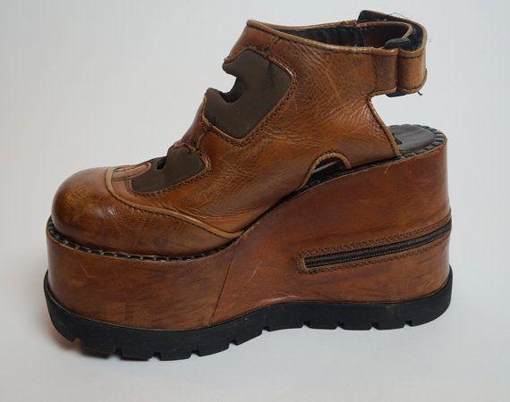 Wonderbaar 1990s Hex Club Kid Rave Platform Shoes by rockchicknetherland JF-24