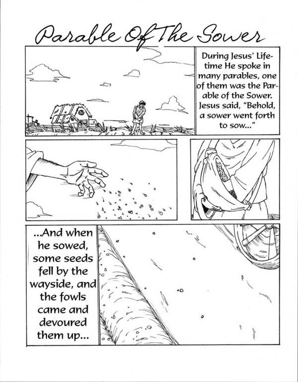 Some Seed Fell By The Wayside In Parable Of Sower Coloring Page