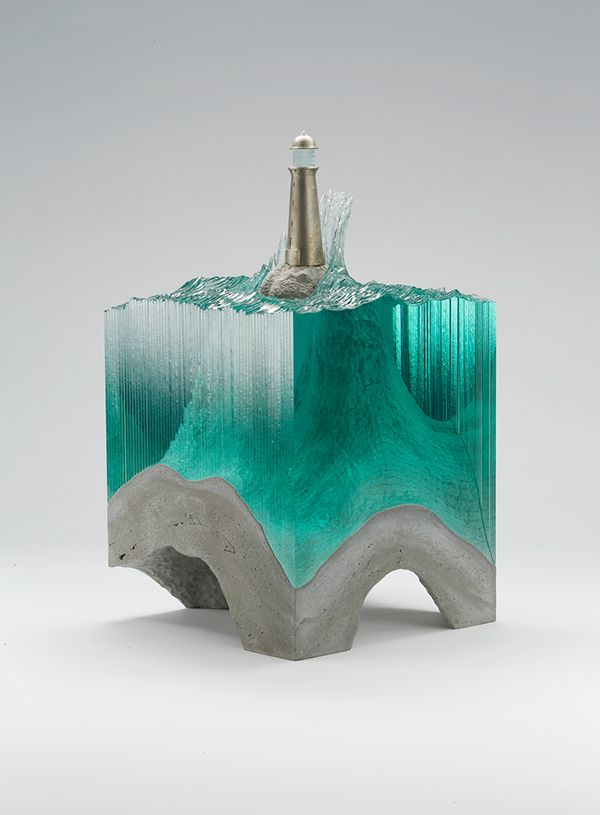 Snake Ranch | designbinge:   Laminated Clear Glass sculpture by...