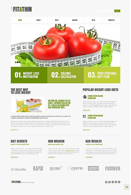 Perfect Shape u2013 Weight Loss Responsive WordPress Template SEO - marketing calculator template