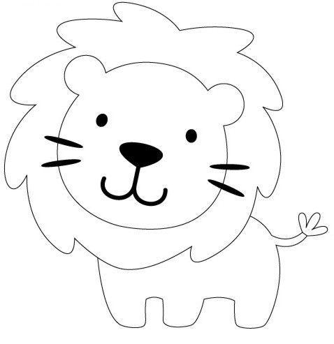 Moldes y Figuras de Sucha Foami: leones | leones | Pinterest ...