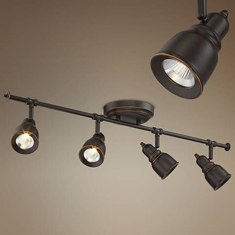 Pro Track Denise 4 Light Bronze Led Fixture Style 1m203 Lights Lighting Fixtures And Bathroom