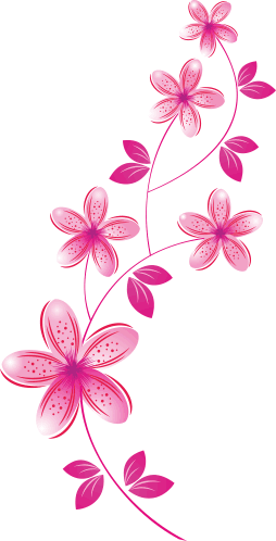 Arranjo de flor rosa flores pinterest flor rosa for Mural de flores y mariposas