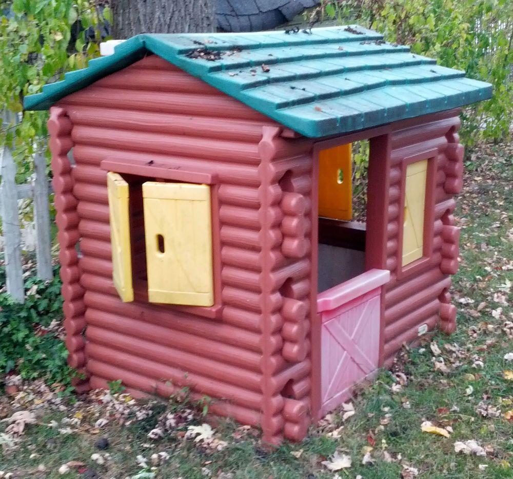 Little Tikes Log Cabin Playhouse Rare Vintage Little