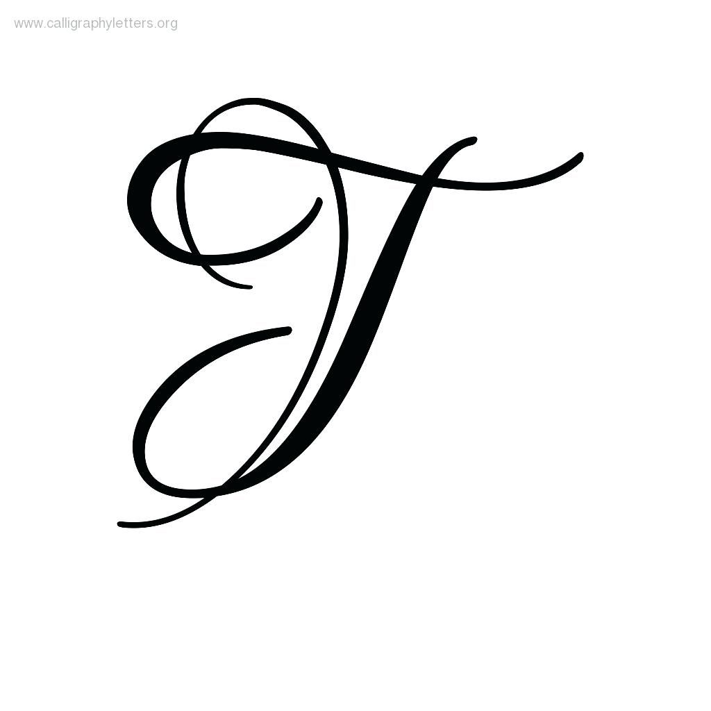 Letter T In Cursive