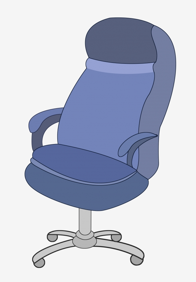 Office Chair With Pulley Blue Chair Rotating Chair Upholstered