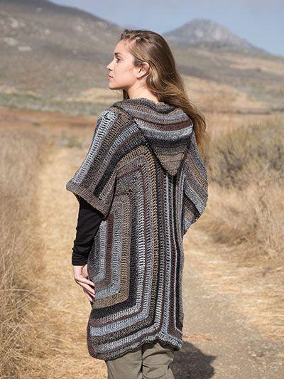 Crochet - Patrones - Diseños de la firma de Annie - Ropa - Annie diseños de la firma: Patrón Pauwau Poncho de ganchillo
