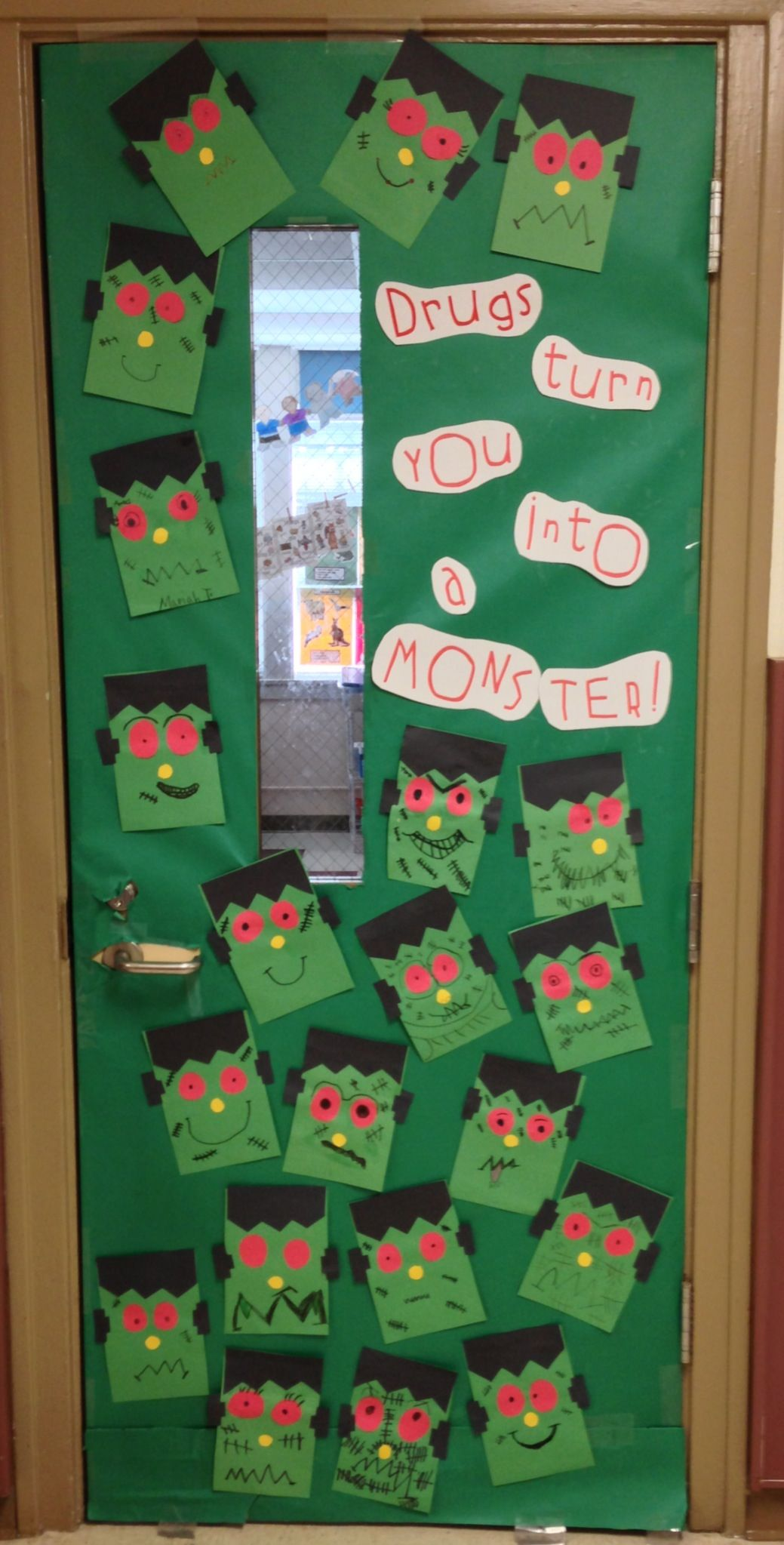 School door decorations · Frankenstein monster Drug Free & Frankenstein monster Drug Free | October | Pinterest | Drug free ... pezcame.com