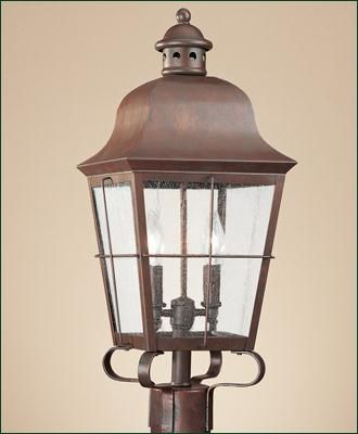 Sea gull lighting chatham 2 light outdoor post lantern in weathered copper