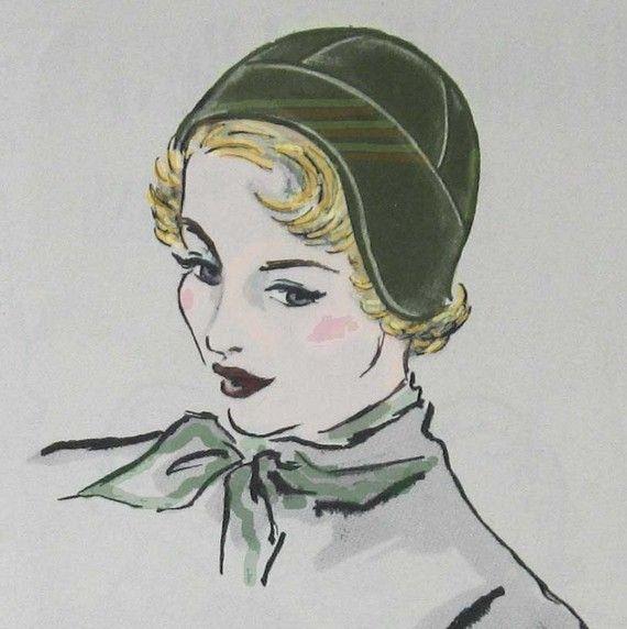 Vintage Womens Flapper Hat Pattern circa 1930s Chemo Hair Loss Hat ...