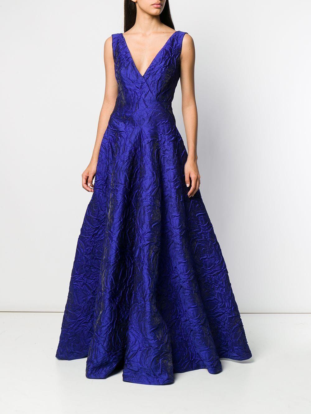 Talbot Runhof Tottori Dress Farfetch Dresses Talbots Royal Blue Dresses [ 1334 x 1000 Pixel ]