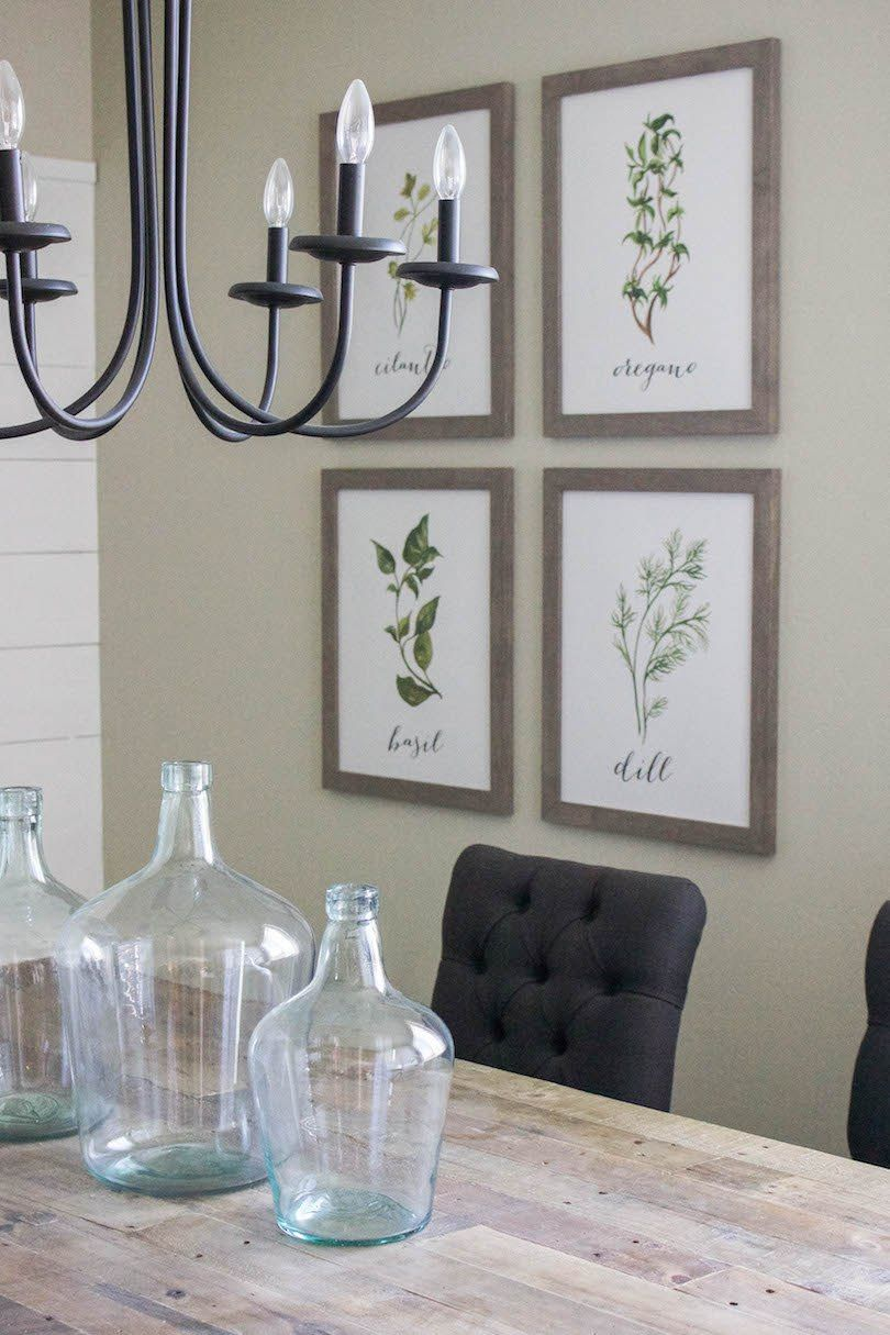 Modern Farmhouse Dining Room Diy Shiplap Wall Decor Frames Ideas